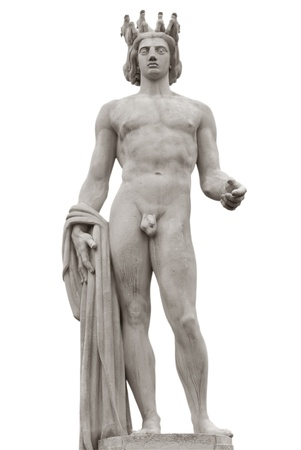 apollo: Apollo statue on the Place Massena in Nice, France  Clipping path included