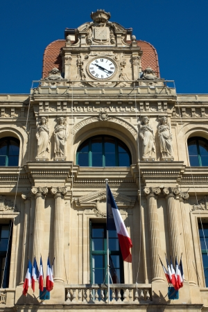 ville: The Hotel de Ville in Cannes, France Editorial