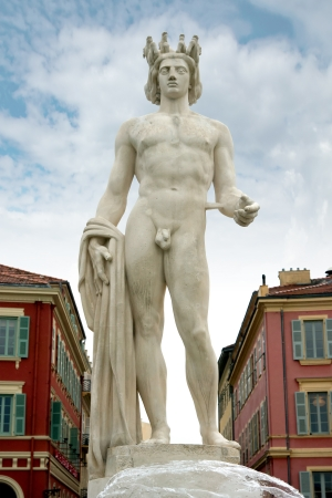 Apollo statue on the Place Massena in Nice, France