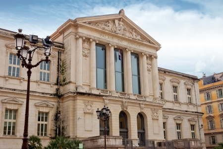 cote d'azure: Palais de Justice in the city of Nice, France