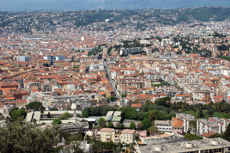 Nice view of the city from above. France. photo