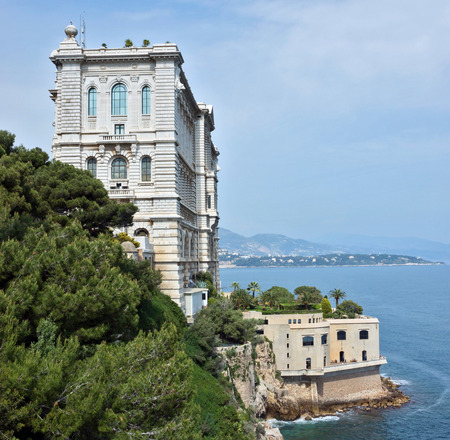 oceanographic: MONTE CARLO, MONACO - MAY 1: Oceanographic Museum is a museum of marine sciences on May 1, 2013 in Monte Carlo, Monaco. It was inaugurated in 1910 by Monacos modernist reformer, Prince Albert I.