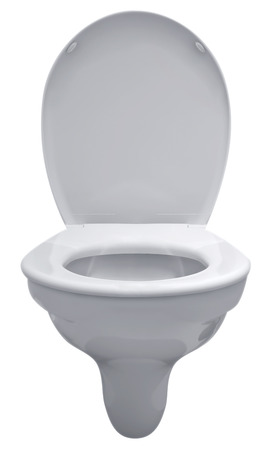 Toilet bowl isolated on white. Clipping path included. photo