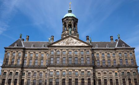 dam square: The Royal Palace at the Dam Square. It is situated at the west side of the Dam Square. The Palace was built as the Town Hall of the City of Amsterdam and was opened as such in 1655. The Royal Palace is one of three palaces in the Netherlands which are at