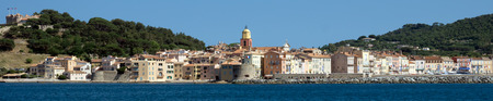 cote d'azur: Panoramic view of the city of Saint Tropez