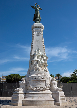 annexation: Monument du Centenaire, Promenade des Anglais, Nice, France. Andre-Joseph Allar was inaugurated March 4, 1896 to Albert 1st Gardens. Architect is Jules Febvre. It celebrates centenary of annexation of Nice to France in 1793. Editorial