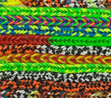 rubber bands: Colorful background rainbow colors rubber bands loom