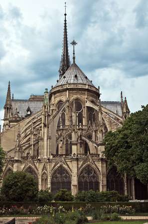 notre dame: View of the Cathedral of Notre Dame, Paris, France.