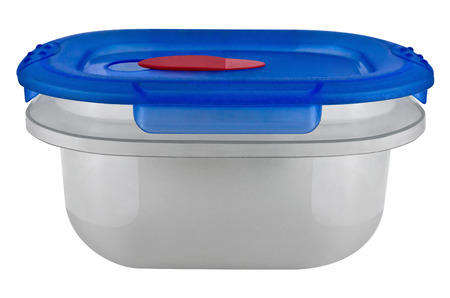 plastic container: Plastic container for food isolated on white. Clipping path included.