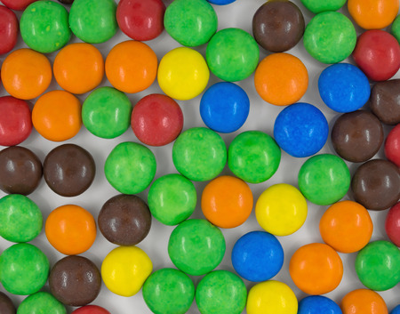 dragee: Closeup Background of Colorful Sweet Candy Dragee.