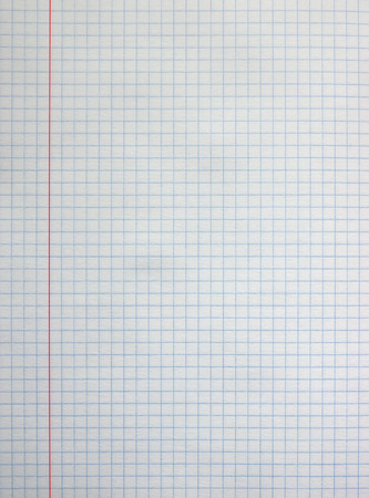 grid background: White square paper sheet background from notepad.