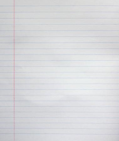 White line paper sheet background from notepad. Standard-Bild