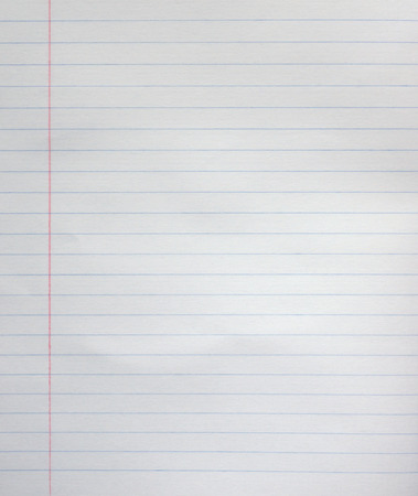 normal school: White line paper sheet background from notepad. Stock Photo