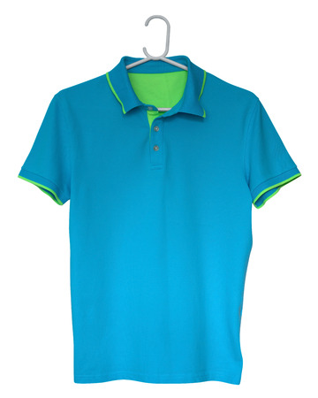 shirts on hangers: Polo shirt isolated on a white background. Clipping path included.