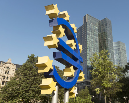 brandt: The Euro sign in Frankfurt am Main, Germany.