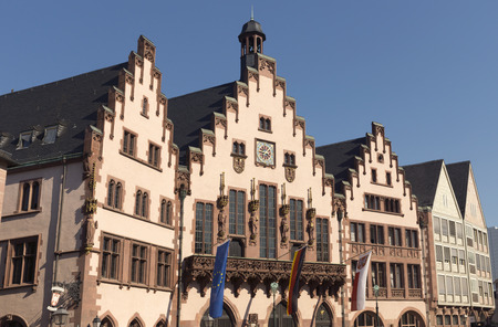 roemerberg: The Roemer at Roemerberg, Frankfurts Town Hall and center of the Old Town.