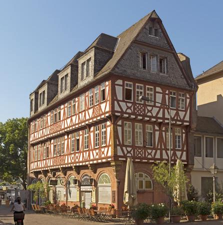 roemerberg: FRANKFURT AM MAIN, GERMANY - JULY 2, 2015: Architecture of Roemerberg square in Frankfurt, Germany. Frankfurt is the fifth-largest city in Germany.
