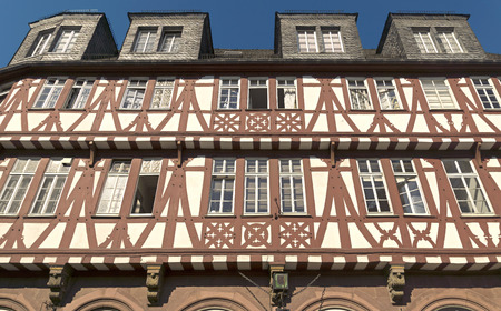 roemerberg: Architecture of Roemerberg square in Frankfurt, Germany. Frankfurt is the fifth-largest city in Germany.