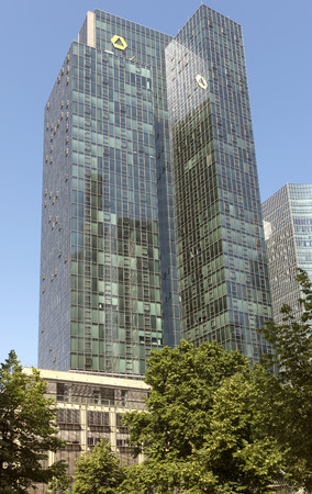central european: FRANKFURT AM MAIN, GERMANY - JULY 2, 2015: The Europaeische Zentral Bank European Central Bank is the central bank for the Euro zone. Editorial