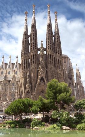 barcelone: La Sagrada Familia - l'impressionnante cath�drale con�ue par Gaudi, qui est en cours de construire depuis le 19 Mars 1882 et est pas encore termin�. �ditoriale