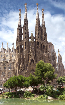 barcelona cathedral: La Sagrada Familia - the impressive cathedral designed by Gaudi, which is being build since 19 March 1882 and is not finished yet.