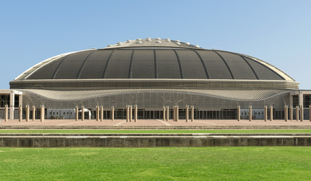 olympic ring: Palau Sant Jordi St. Georges Palace is an indoor sporting arena part of the Olympic Ring complex located in Montjuic district of Barcelona.