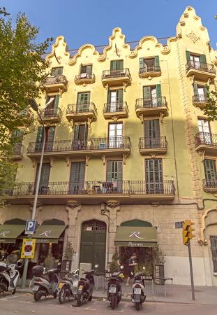 rambla: BARCELONA, SPAIN - JULY 5, 2015: Architecture of La Rambla street. La Rambla street is the heart of Barcelona, Spain.