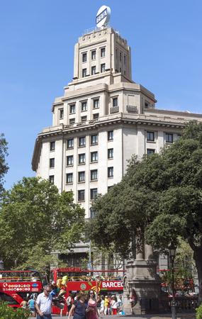 barsa: BARCELONA, SPAIN - JULY 6, 2015: Architecture of Square of Catalonia in Barcelona. Spain.