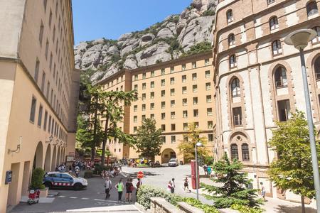 virgin of montserrat: BARCELONA, SPAIN - JULY 10, 2015: Architecture of The Benedictine abbey Santa Maria de Montserrat in Monistrol de Montserrat, Spain. Editorial