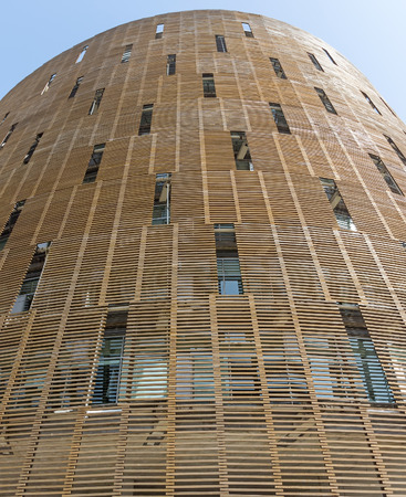 biomedical: BARCELONA, SPAIN - JULY 4, 2015: Building of Biomedical Research Park (Parc de Recerca Biomedica) in Barcelona, Spain. With R&D budget of approx 80 million euros year and cutting-edge scientific equipment. Editorial