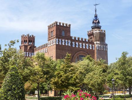 barcelona: BARCELONA, SPAIN - JULY 12, 2015: Castel dels Tres Dragons, built in 1887 in Parc de la Ciutadella. Barcelona, Catalonia, Spain. Editorial