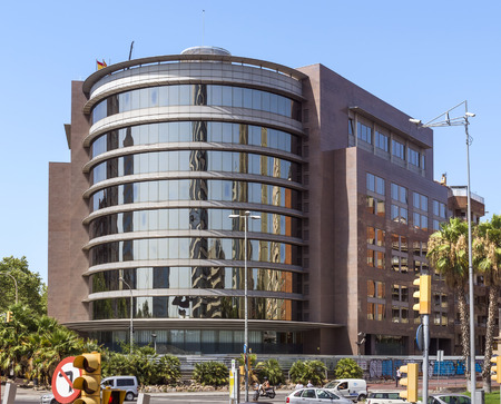 barsa: BARCELONA, SPAIN - JULY 6, 2015: Modern architecture of one urban district in Barcelona, Spain.