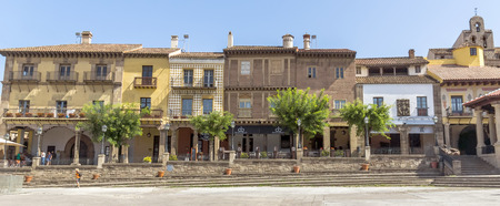 northern spain: BARCELONA, SPAIN - JULY 6, 2015: Spain Village - Poble Espanyol (Traditional architectural complex) in Barcelona, Spain.