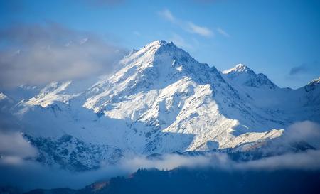 tien shan: Trans-Ili Alatau Mountains, Kazakhstan. View from Almaty city.