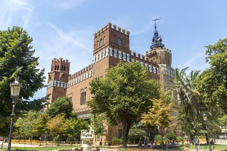tres: BARCELONA, SPAIN - JULY 12, 2015: Castel dels Tres Dragons, built in 1887 in Parc de la Ciutadella. Barcelona, Catalonia, Spain. Editorial