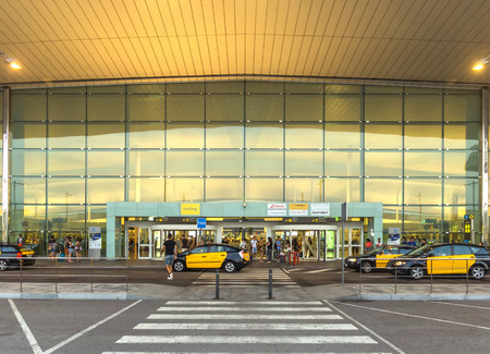 barcelona spain: BARCELONA, SPAIN - JULY 16, 2015: Terminal T1 of El Prat-Barcelona airport. This airport was inaugurated in 1963. Airport is one of the biggest in Europe.