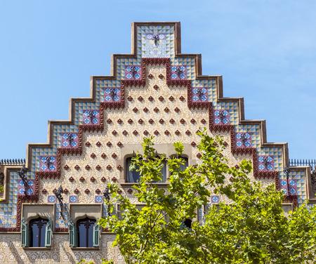 modernist: BARCELONA, SPAIN - JULY 6, 2015: Casa Ametller building. It is a modernist building in Barcelona designed by architect Josep Puig i Cadafalch built between 1898 and 1900.