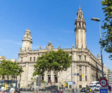 BARCELONA, SPAIN - JULY 6, 2015: Architecture of port Vell in Barcelona, Spain.