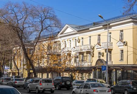 alma: ALMATY, KAZAKHSTAN - NOVEMBER 4, 2015: Old architecture in historical centre of city.