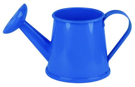 Bleu arrosoir isolé sur blanc. Clipping path inclus. Banque d'images - 51868080