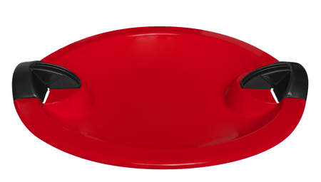 toboggan: Red toboggan isolated on the white background. Clipping path included.