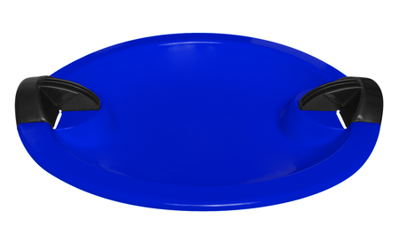 toboggan: Blue toboggan isolated on the white background. Clipping path included.