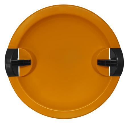 toboggan: Orange toboggan isolated on the white background. Stock Photo