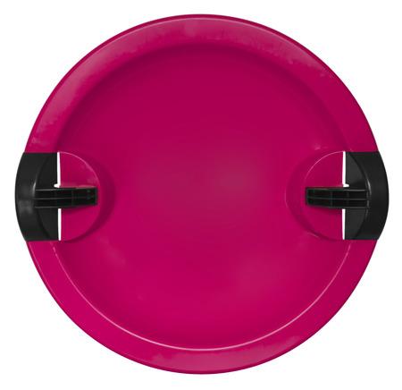 toboggan: Pink toboggan isolated on the white background.