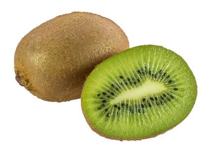 cantle: Kiwi fruits isolated on white background Stock Photo