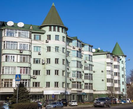 alma: ALMATY, KAZAKHSTAN - MARCH 21, 2016: Modern architecture in the historic centre of Almaty.