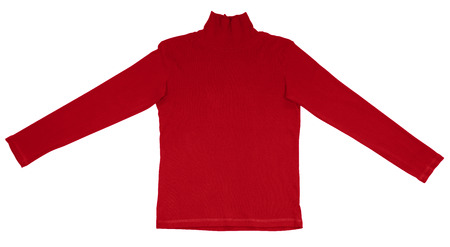 red tshirt: Red t-shirt with long sleeves isolated on white.