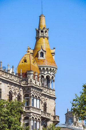 antoni: BARCELONA, SPAIN - JULY 5, 2016: Cases Antoni Rocamora. The building was built by the Bassegoda brothers in 1917 in Passeig de Gracia, Barcelona, Spain.