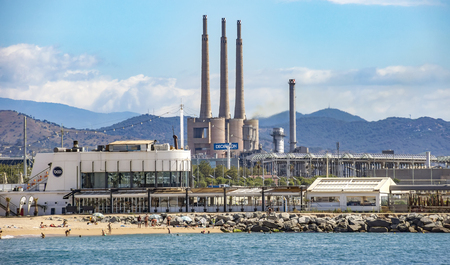 adria: BARCELONA, SPAIN - JULY 13, 2016: Industry plant at Sant Adria del Besos. Barcelona, Spain