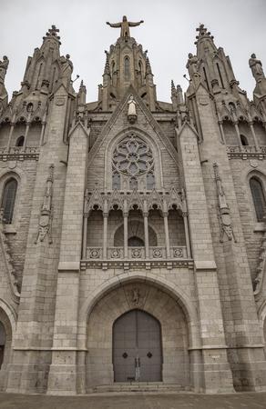 Church of the Sacred heart of Jesus in Barcelona in Spain